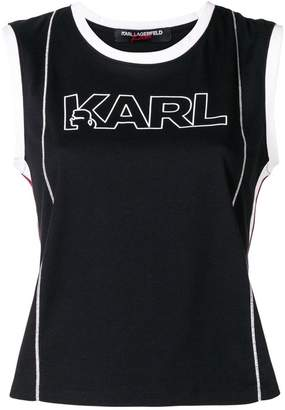 Karl Lagerfeld X Kaia Logo Tank Top