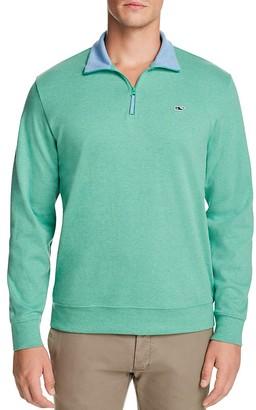 Vineyard Vines Quarter Zip Cotton Sweater $98.50 thestylecure.com