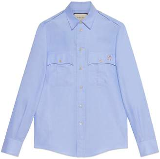 Gucci Oxford shirt with piglet embroidery