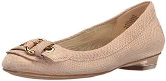 Anne Klein Women's Mady Reptile Loafer Flat