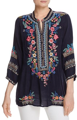 Johnny Was Embroidered Peasant Tunic $234 thestylecure.com