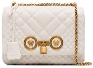 Versace off white Icon medium quilted leather shoulder bag
