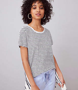 Lou & Grey Striped Garment Dye Tee