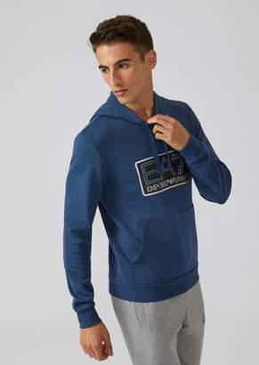 Emporio Armani Sweatshirt With Hood And Ea7 Logo Print