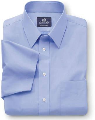 STAFFORD Stafford Travel Short-Sleeve Easy-Care Broadcloth Shirt-Big & Tall