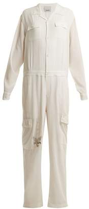 MHI Eagle Tour Silk Jumpsuit - Womens - White