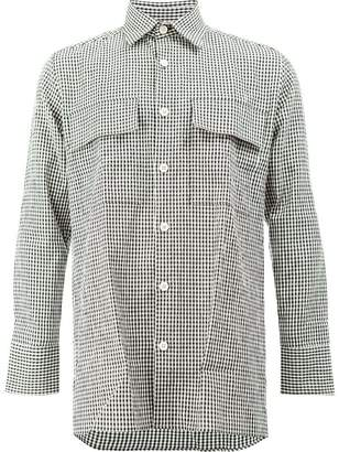 Wales Bonner gingham long sleeve shirt