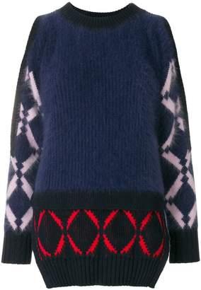 Versace open shoulder sweater