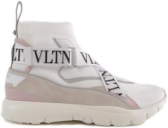 Valentino Heroes Logo Strap Hi-top Sneakers