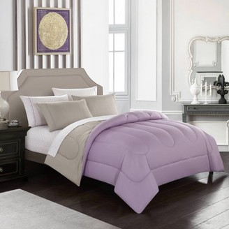Casa 7-Piece Solid Reversible Comforter Set With BONUS Sheets, Multiple Colors and Sizes