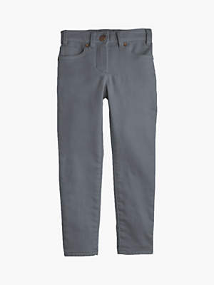 J.Crew crewcuts by Girls' Cosy Denim Trousers, Grey