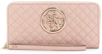 GUESS Gioia Logo-Embossed Zip-Around Wallet