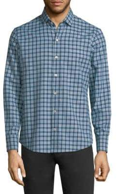 Zachary Prell Speer Check Cotton Shirt
