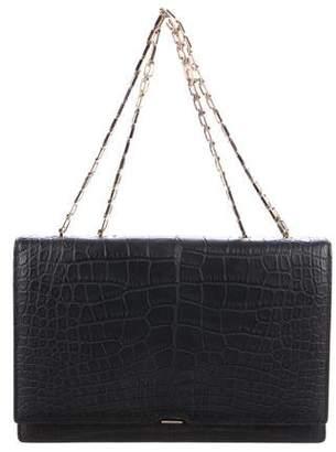 Victoria Beckham Matte Crocodile Shoulder Bag