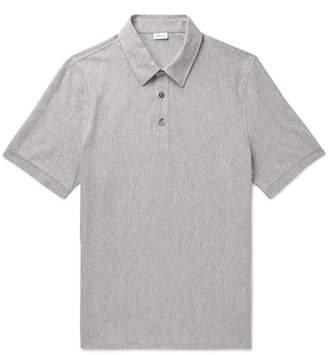 Brioni Herringbone Cotton-Jersey Polo Shirt
