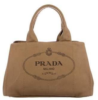 Prada Logo Canvas Handle Bag