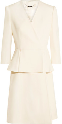 Alexander McQueen - Wool And Silk-blend Twill Peplum Coat - Ivory