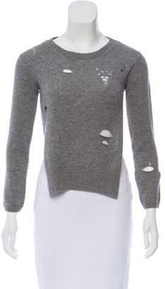 R 13 Shrunken Distressed Sweater
