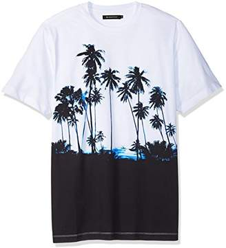 Bugatchi Men's Cotton Jersey Palm Print T-Shirt