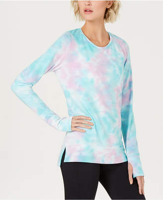 Ideology Tie-Dyed Cutout-Back Top