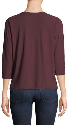 James Perse V-Neck Cotton-Blend Tee