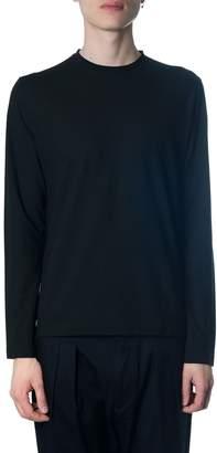 Zanone Long-sleeved Black Cotton T-shirt