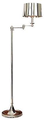 Global Views Swing-Arm Floor Lamp - Polished Nickel