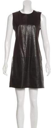 Vince Sleeveless Leather Dress