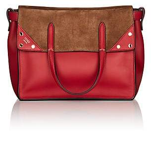 Fendi Women's Flip Small Leather & Suede Tote Bag - Red