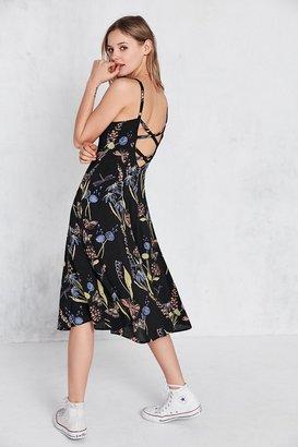 Kimchi Blue Graziano Floral Button-Down Midi Slip Dress $79 thestylecure.com