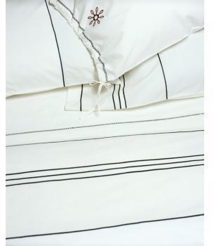 Area Navy White Organic Bedding