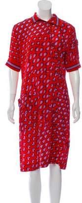 Tomas Maier Silk Printed Dress w/ Tags