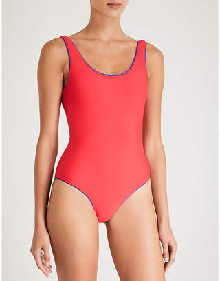 Champion Scoop-back contrasting-trim swimsuit