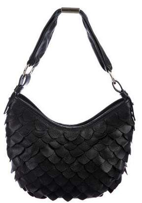 Saint Laurent Small Scalloped Leather Hobo