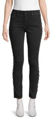Driftwood Jackie Studded Skinny-Fit Jeans