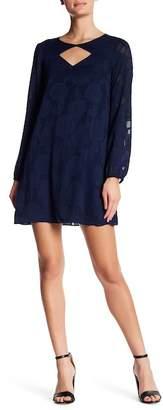 BCBGeneration Textured Long Sleeve Dress