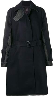 Sacai quilted back coat