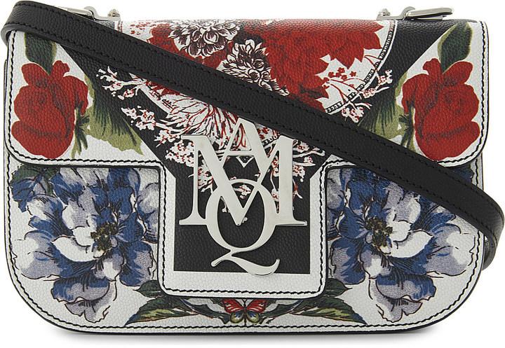 Alexander McQueenAlexander Mcqueen AMQ insignia floral-print leather satchel