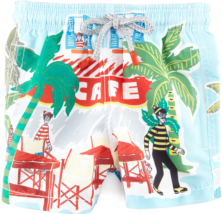 Vilebrequin Special Edition Where's Waldo? Boys' Jam Swim Trunks, Sizes 2-6