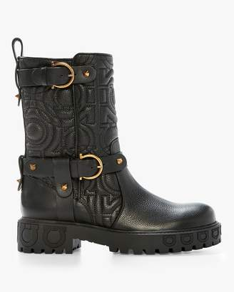 Salvatore Ferragamo Detailed Winter Gancio Boot