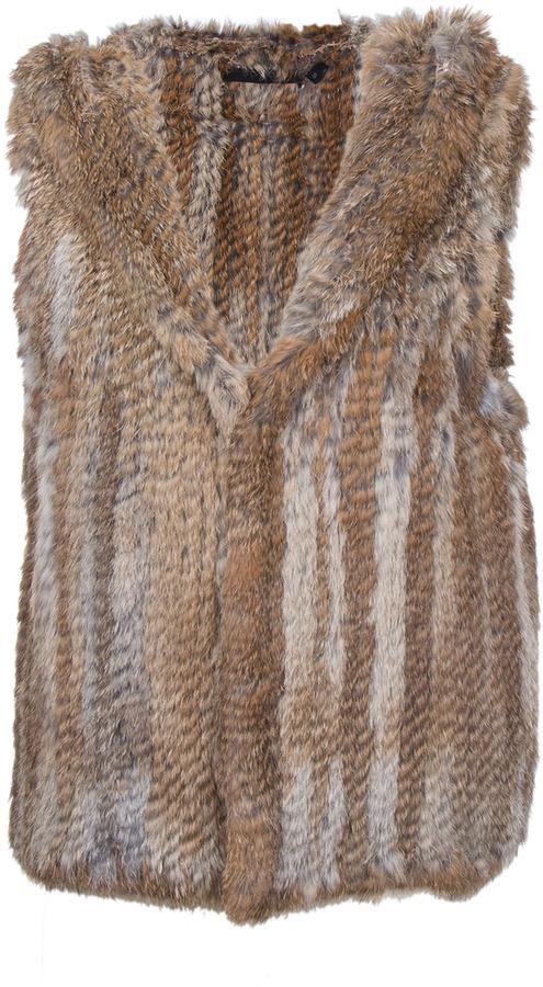 Scoop - Hooded Fur Vest
