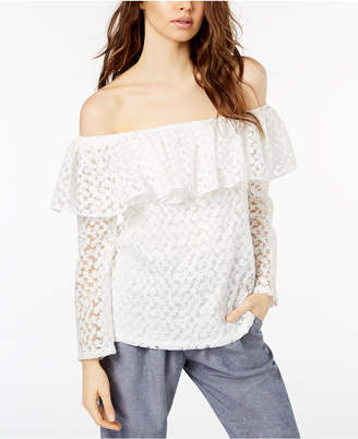Jill Stuart Off-The-Shoulder Lace Top, Created for Macy's
