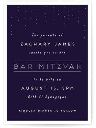 Mitzvah Mitzvah Invitations