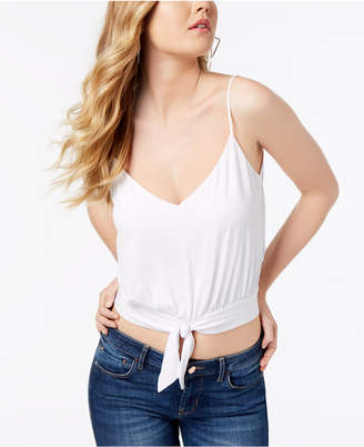 GUESS Tie-Front Cropped Tank Top