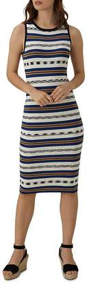 Karen Millen Striped Knit Midi Dress