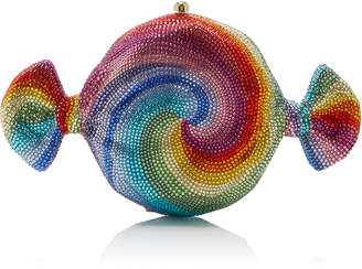 Judith Leiber Couture Candy Swirl Crystal Clutch