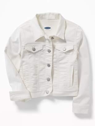 Old Navy Clean-Slate White Denim Jacket for Girls