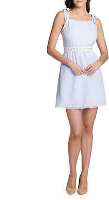 Kensie Tie Straps Cotton A-Line Dress