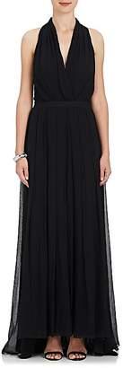 L'Agence WOMEN'S SERAPHINE SILK GEORGETTE MAXI DRESS