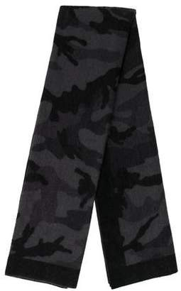 Valentino Camouflage Intarsia Scarf